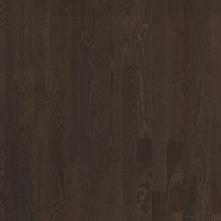 Паркетная доска Floorwood (Флорвуд) ASH Madison dark brown MATT LAC 3S 2266x188x14 3 полосная