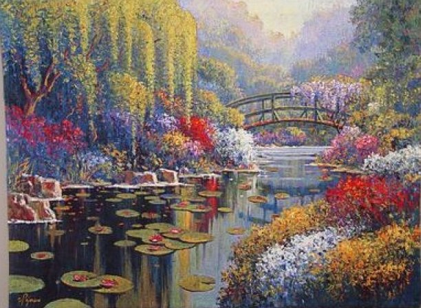 Гобелен Flanders Tapestries Giverny Pond small by Pejman/Живерни Пруд. Пежман 98x73, Бельгия
