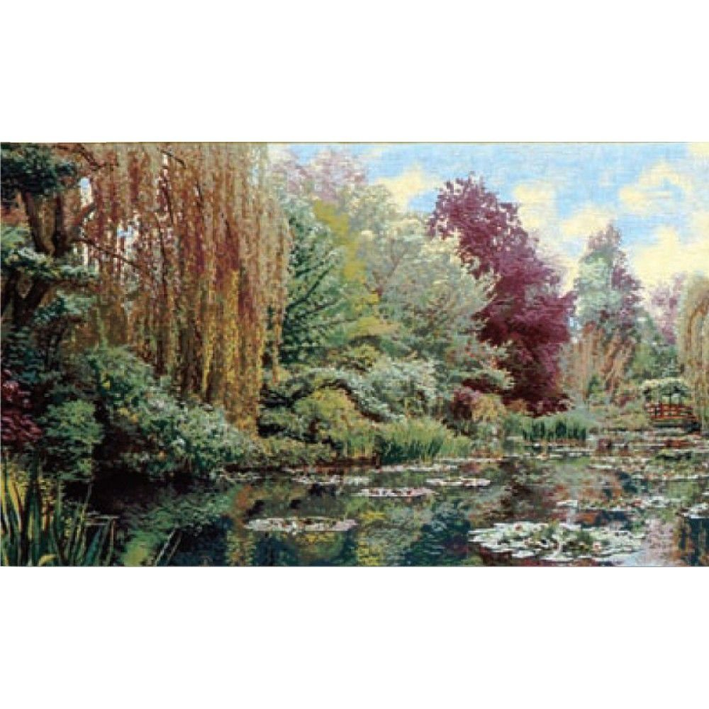Гобелен Flanders Tapestries Monet's Garden Part 1 NB/ Сад Фрагмент 1 (Клод Моне) 100х59, Бельгия