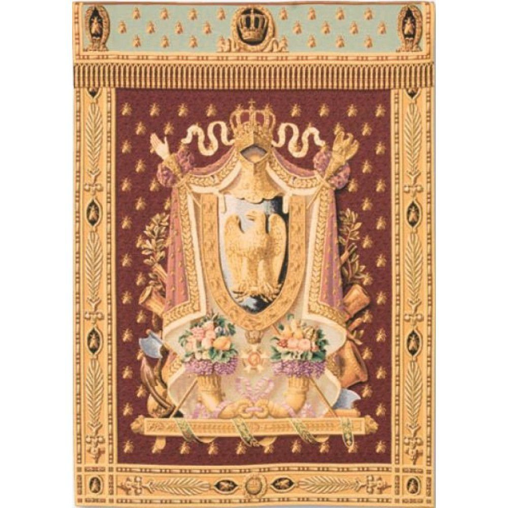Гобелен Flanders Tapestries Napoleon Burgundy small/ Герб Наполеона (бордовый фон) 83х112, Бельгия
